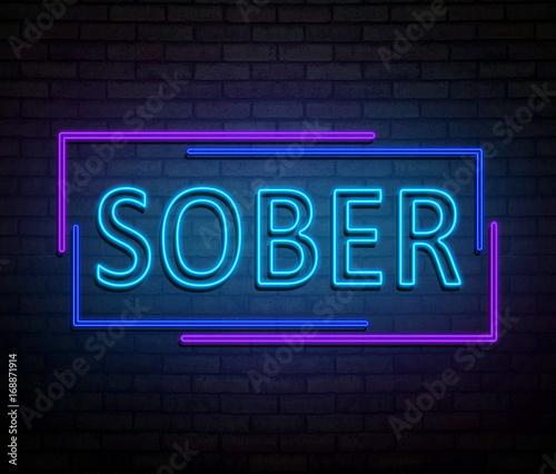 Photo Neon sober concept.