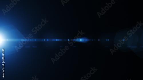 Obraz Natural lens flare on the side on a black background - fototapety do salonu
