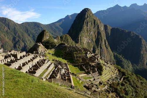 Blick auf die Reste von Machu Picchu