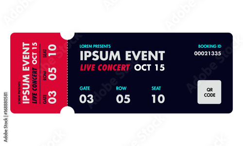 concert ticket template music dance live event ticket for