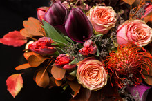 Fall Bouquet At Black Background