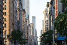 View Down Fifth Avenue In Manh...