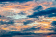 Abstract blurred background, dramatic sky in twilight.