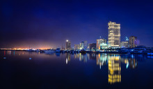 Night View Of Manila Bay In Philippines