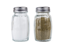Salt And Pepper In Glass Jars ...