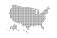 Dotted Style Map Of USA And Wh...