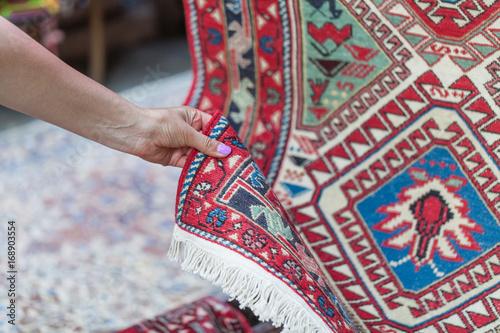 Fotografie, Obraz  Georgian Caucasian Antique Kilim Rugs