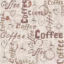 Sketch Old Newspaper Coffee Ba...