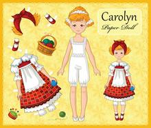 Young Beautiful Paper Doll Gir...