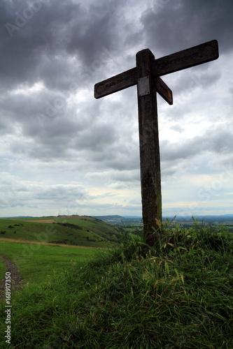 Foto auf Gartenposter Gebirge Public footpath