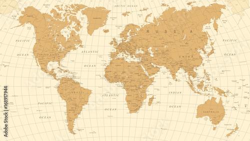 World map vintage vector detailed illustration of worldmap buy world map vintage vector detailed illustration of worldmap gumiabroncs Images