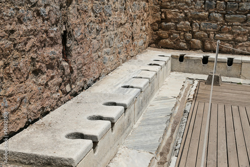 Fotobehang Rudnes Public Toilets of Ephesus Ancient City
