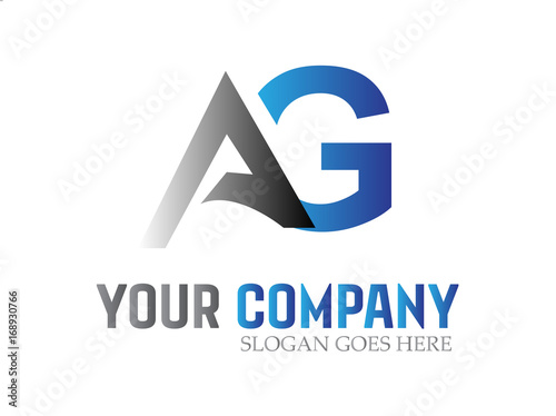 Photo Letter AG Modern Logo Design Vector