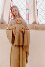 Statue Of Mary And Jesus In Fr...