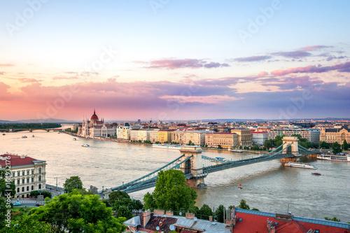 Canvas Prints Budapest Budapest im Sonnenuntergang
