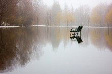 Park Bench During A Flood