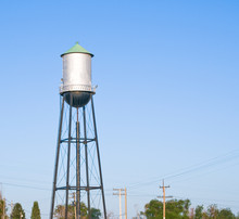 Water Tower For A Small Town.