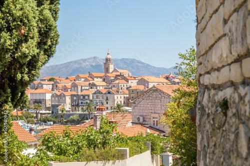 Valokuva  Korcula old town, Dalmatia, Croatia island
