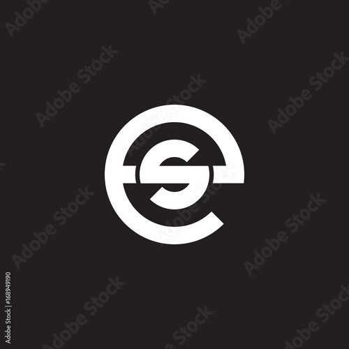 Initial Lowercase Letter Logo Es Se S Inside E Monogram Rounded Shape White Color On Black Background Buy This Stock Vector And Explore Similar Vectors At Adobe Stock Adobe Stock