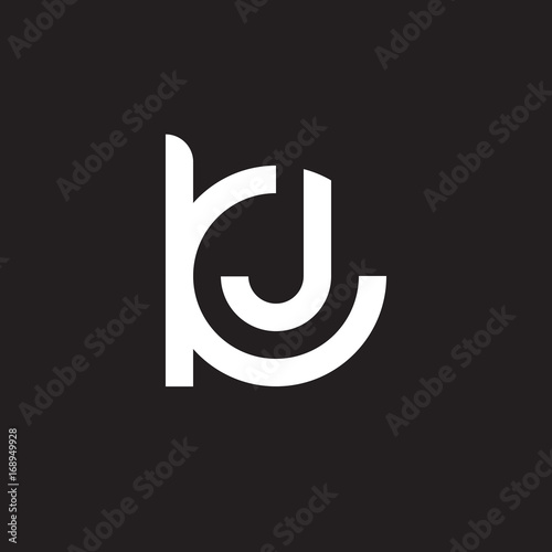 Initial Lowercase Letter Logo Kj Jk J Inside K Monogram Rounded Shape White Color On Black Background Buy This Stock Vector And Explore Similar Vectors At Adobe Stock Adobe Stock