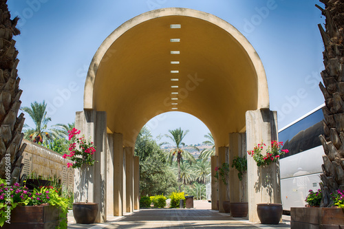 Fotografija Yardenit, Israel The entrance to the baptising place on the Jordan river