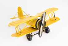 Vintage Yellow Metal Toy Plane...