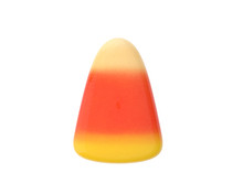 Halloween Candy Corn Over White Background