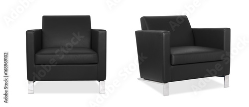 Fotografia, Obraz Black Armchair in two angles
