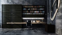 Monochromatic Luxury Grey Modern Office Interior