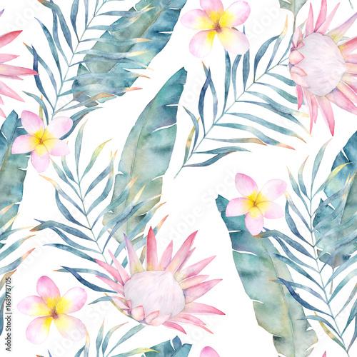akwarela-i-wzor-tropikalnych-roslin