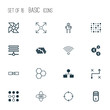Robotics Icons Set. Collection Of Information Base, Atomic Cpu, Solution And Other Elements. Also Includes Symbols Such As Related, Arrow, Brain.