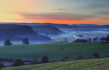 Winter Mists At Dawn In The Um...