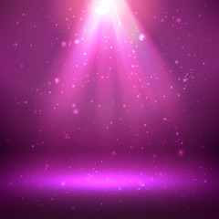 shining light effect background
