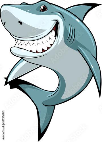 Fototapeta premium Zabawny biały rekin
