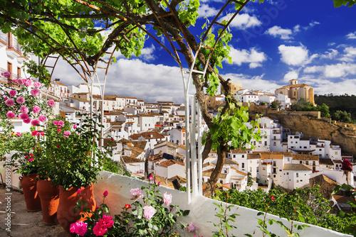 Setenil de las Bodegas village, one of the beautiful white villages (Pueblos Blancos) of Andalusia, Spain