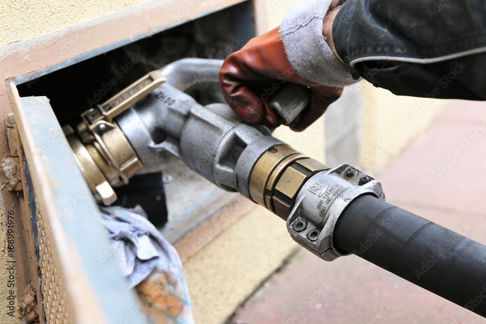 Fototapety, obrazy: Heizöl wird geliefert