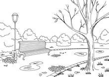 Autumn Park Graphic Black Whit...
