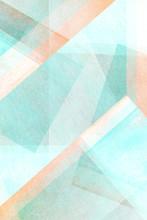 Helle Pastell Töne -  Türkis Farbspiel - Geometrisches Abstraktes Design
