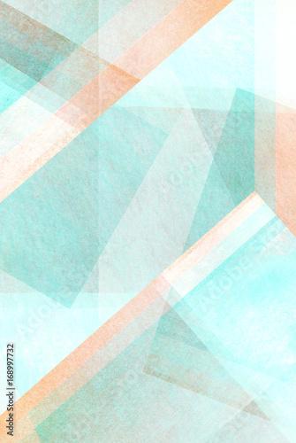 Obrazy turkusowe  helle-pastell-tone-turkis-farbspiel-geometrisches-abstraktes-design