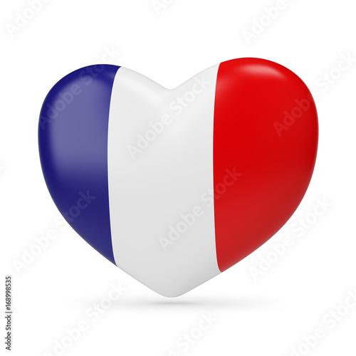 Plakat Francja. Flaga, serce