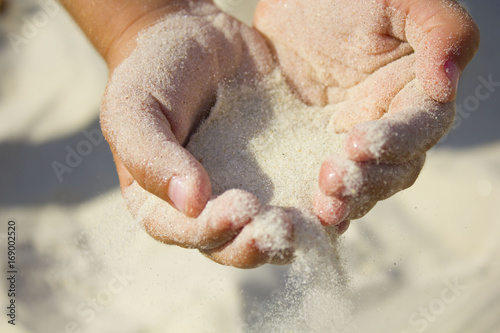 Fotografie, Tablou  sand in both hands at the beach