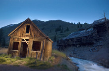 A Dusk Image Of The Historic Shop At Animas Forks Colorado A Ghost Town Near Silverton.