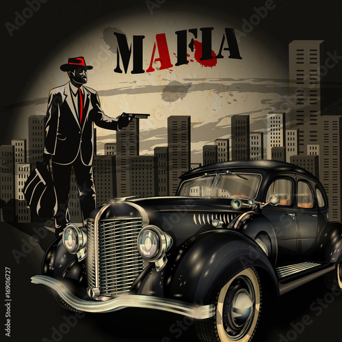 Foto op Plexiglas Havana Mafia or gangster background
