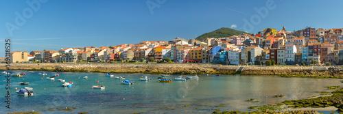 Vista panorámica de A Guarda, La Guardia, Pontevedra, pueblos marineros, España Canvas Print