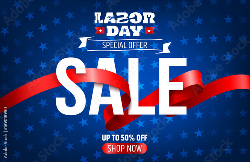 Happy Labor Day Background Labor Day Sale Promotion Advertising