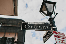 Orleans Street Sign In The Fre...