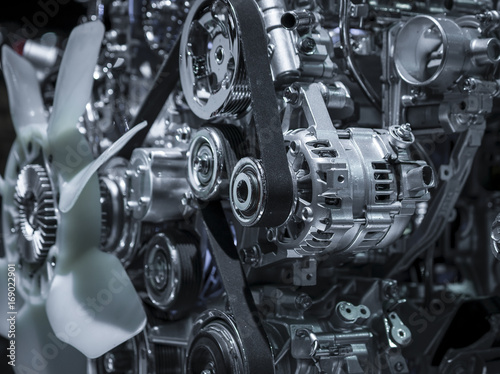 The car engine, Engine, Car engine background Poster