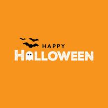Happy Halloween Text, Vector I...