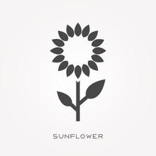 Silhouette Icon Sunflower