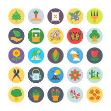 Nature And Ecology Flat Icons 1